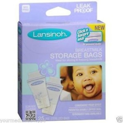 Baby Bucket Lansinoh Breastmilk Storage Bags(Pack of 1, White)