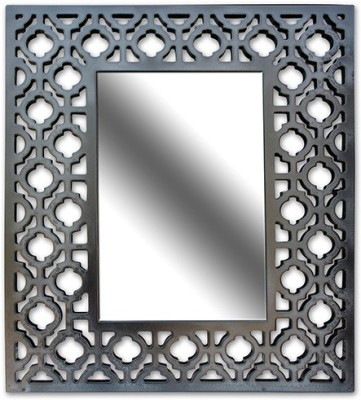 Crazycut CCMI1005 Decorative Mirror(Rectangular Finish : Black Glossy Paint, Auto Finish) at flipkart