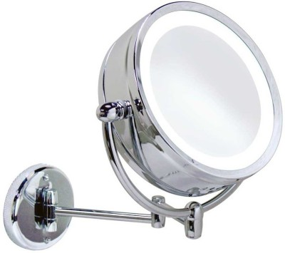 AAI 145896 Magnifying Mirror(Round Finish : High Gloss Chrome Polished Brass) at flipkart