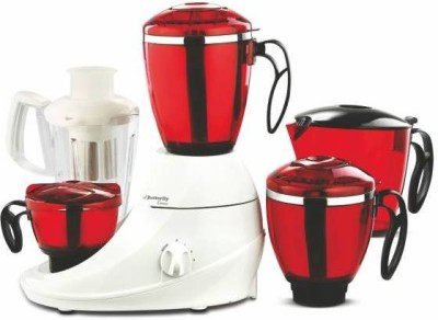 Butterfly JX 3 Desire 4Jars MG 750 W Juicer Mixer Grinder(Red, 4 Jars)