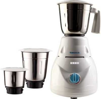 Usha SMASH MG2853 500 W Mixer Grinder White, 3 Jars