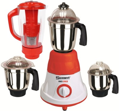 Sunmeet MG16-618 600 W Juicer Mixer Grinder(Multicolor, 4 Jars)