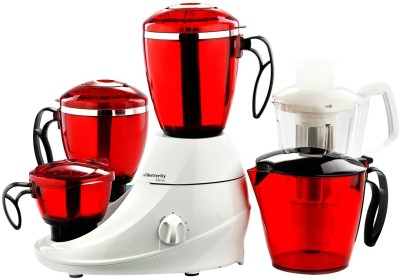 Butterfly Desire 3 jar 230 W Mixer Grinder(White, Red, 3 Jars)
