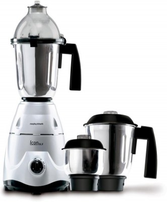 Morphy Richards Delux 750 W Mixer Grinder(Silver,Black, 3 Jars)