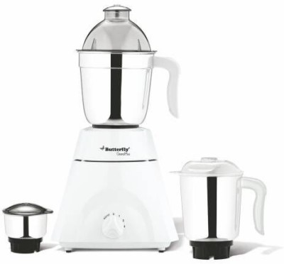 Butterfly Grand Plus MG 750 W Mixer Grinder(White, 3 Jars)  available at flipkart for Rs.3490