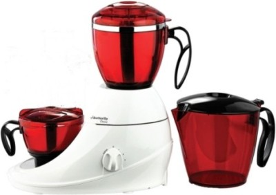 Butterfly desire 3J 750 W Mixer Grinder(Red & White, 3 Jars)