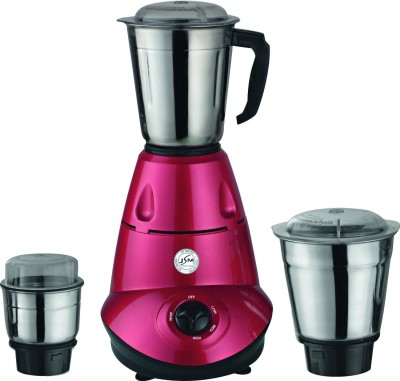 JSM DELIGHT RED 650 W Mixer Grinder(Pink, 3 Jars)