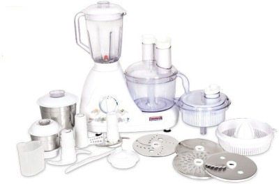 Padmini Mega Pro 600 W Juicer Mixer Grinder(White, 4 Jars)  available at flipkart for Rs.7290