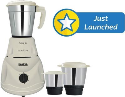 Inalsa Astra LX 550 W Mixer Grinder(White, 3 Jars)  available at flipkart for Rs.1999
