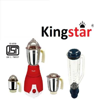 Kingstar Aristo 750W Juicer Mixer Grinder (4 Jars) Image