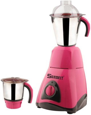 Sunmeet MG16-407 600 W Mixer Grinder(Pink, 2 Jars)