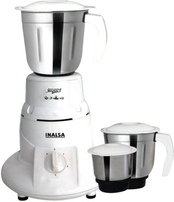 Inalsa IMPACT 550 W Mixer Grinder(White, 3 Jars)  available at flipkart for Rs.2800