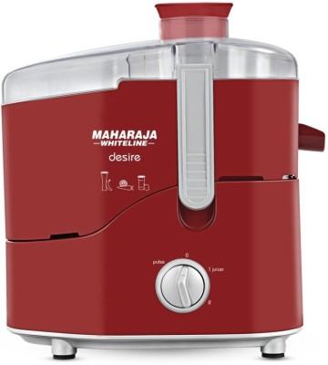 Maharaja Whiteline JE 100 Desire 550 W Juicer(Silver, Red, 1 Jar)