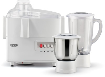 Eveready JX 4 Dynamo 450 W Juicer Mixer Grinder(White, 2 Jars)