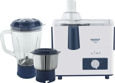 Maharaja Whiteline CLEO (JX-115) 450 W Juicer Mixer Grinder(White, Blue, 2 Jars)  available at flipkart for Rs.1999