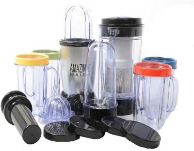 Amazing Bullet AMXB4 21 Pcs Desire Blender Magic Transparent Jar 250 W Juicer(Black, Grey, 5 Jars)