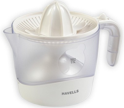 Havells Easy To Extract Citrus 30 W Juicer   White, 1 Jar  Havells Mixer Juicer Grinder