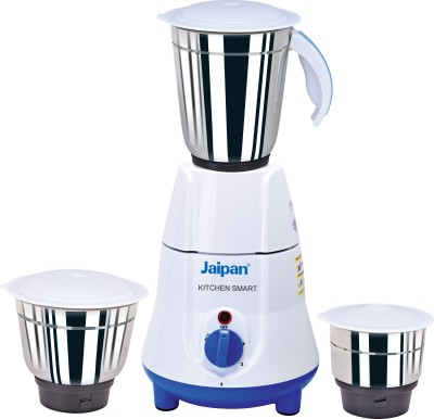 Jaipan Kitchen Smart 500 W Mixer Grinder(White, Blue, 3 Jars)  available at flipkart for Rs.2570