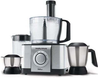 Morphy Richards Jx4 Icon DLX Food Processor 1000 W Juicer Mixer Grinder(Steel Black, 4 Jars)