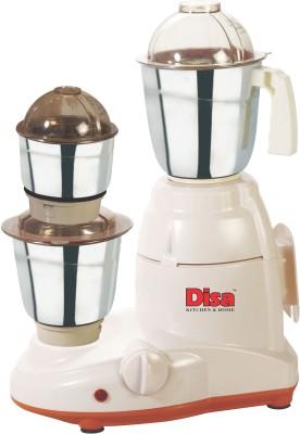 Disa DS-01 Delite 550 W Mixer Grinder(Cream, 3 Jars)