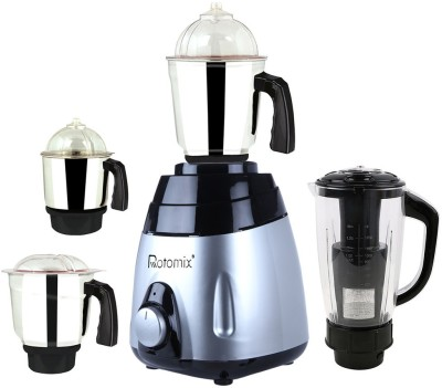 Rotomix ABS Body MGJ 2017-44 600 W Mixer Grinder Multicolor, (4 Jars)