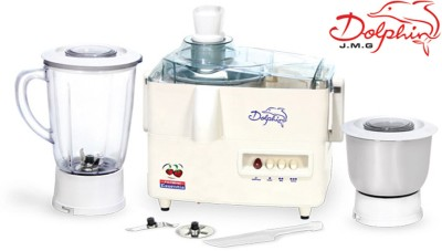 Padmini Dolphin 450 W Juicer Mixer Grinder(white, 2 Jars)  available at flipkart for Rs.2900