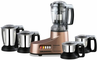 Panasonic MX-AC555BR 550 W Juicer Mixer Grinder(BRONZE, 5 Jars)  available at flipkart for Rs.5850
