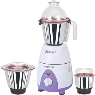 Jaipan Premium High Performance 750 W Mixer Grinder(White, Purple, 3 Jars)