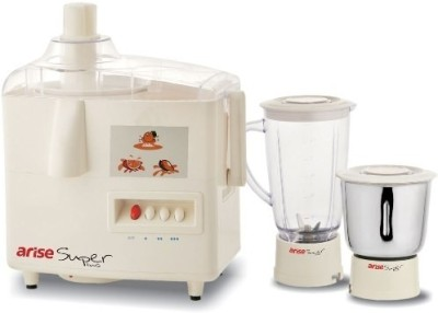 Arise Super Plus 550 W Juicer Mixer Grinder(White, 2 Jars)