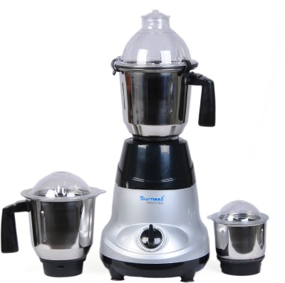 Sumeet Amica 750 W Mixer Grinder(Grey, Black, 3 Jars)  available at flipkart for Rs.3450