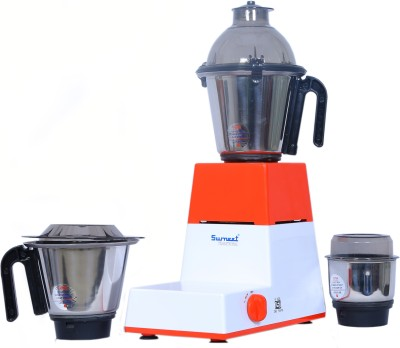 Sumeet Domestic-XL3 550 W Mixer Grinder(Red, White, 3 Jars)  available at flipkart for Rs.3050