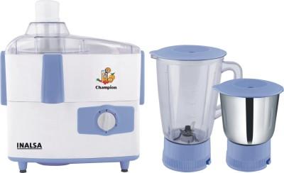 Inalsa Champion JMG 450 W Juicer Mixer Grinder(White, Blue, 2 Jars)  available at flipkart for Rs.2574