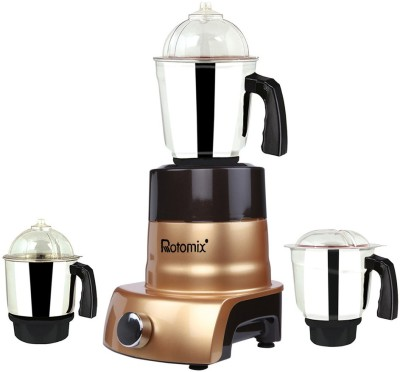 Rotomix ABS Body MGJ 2017-132 750 W Mixer Grinder Gold, (3 Jars)