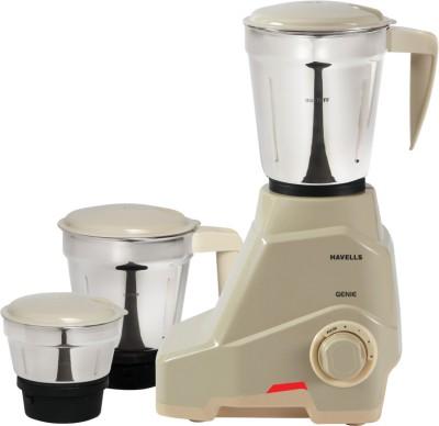 Havells Genie 500 W Mixer Grinder(Grey, 3 Jars)