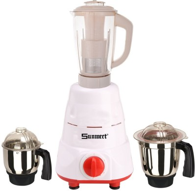 Sunmeet Latest Jar attachments of chutney medium & juicer jarType-741 600 W Juicer Mixer Grinder(Multicolor, 3 Jars)