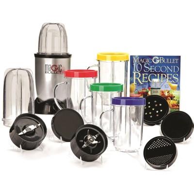 Magic Bullet 17-Piece Express Mixing Set 200 W Juicer Mixer Grinder(Silver, Black, 6 Jars)  available at flipkart for Rs.4299