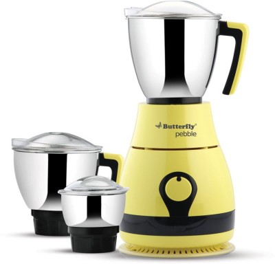 Butterfly Pebble 3 Jar 600W 600 W Mixer Grinder(Lemon Yellow, 3 Jars)  available at flipkart for Rs.2675