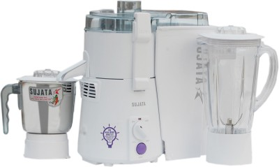 Sujata Powermatic Plus 900 W Juicer Mixer Grinder(White, 2 Jars)