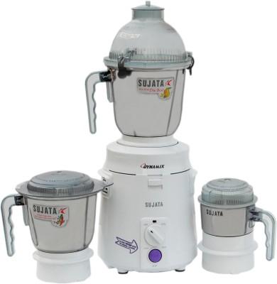 SUJATA dynamix 900 W Mixer Grinder(White, 3 Jars)