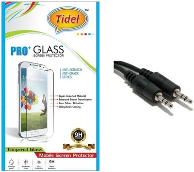 Tidel 2.5D Curved Tempered Glass Screen Guard Protector For Micromax Canvas Juice A77 With Aux Cable Accessory Combo(Transparent)