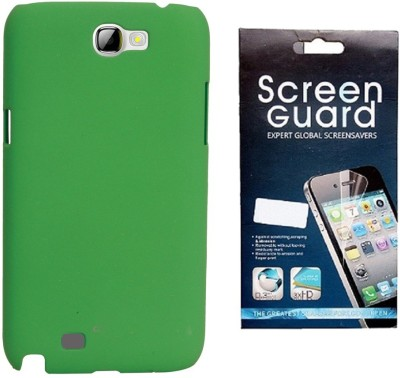 RDcase RDcase Back Cover + Screen Guard for Samsung Galaxy Note 2 (N7100) - Green Accessory Combo(Green)