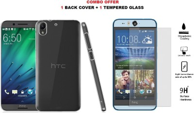 Highderabad Tech Cover Accessory Combo for HTC Desire 728g(Transparent, Transparent)