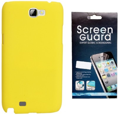 RDcase RDcase Back Cover + Screen Guard for Samsung Galaxy Note 2 (N7100) - Yellow Accessory Combo(Yellow)