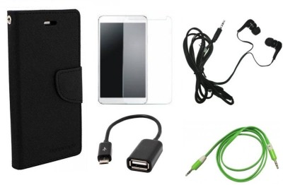 Poonam Cover Accessory Combo for Micromax Canvas 2 A110(Black, White)
