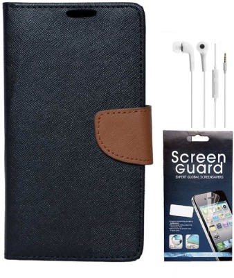 Coverage Cover Accessory Combo for Mercury CoolPad Dazen Note 3, CoolPad Note 3(Black, Brown)