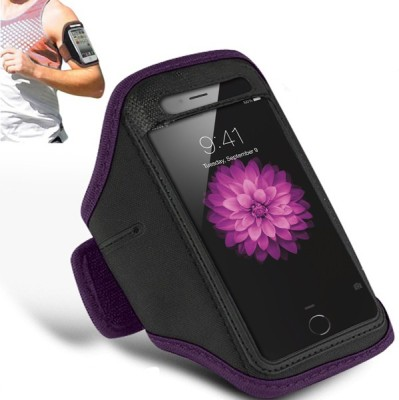 N+India Arm Band Case for Apple iPhone 6s Plus, Apple iPhone 6 Plus Purple N+India Plain Cases   Covers