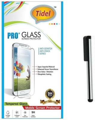 Tidel Tidel 2.5D Curved Tempered Glass Screen Guard Protector For Micromax Canvas Pep Q371 With Stylus Accessory Combo(Transparent)