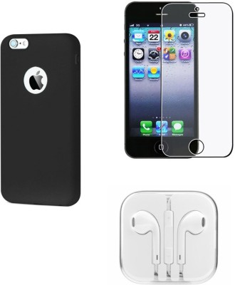 Mocell Case Accessory Combo for Iphone 5S Black, Transparent, White