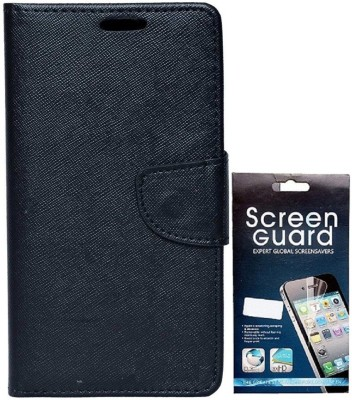 RDcase RDcase Flip cover with Screen Guard for Motorola Moto G (1st Gen) Black Accessory Combo(Black)