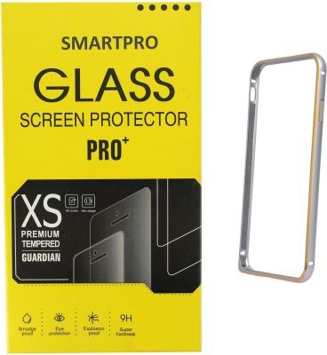 Smartpro Bumper Case for Samsung Galaxy Core Prime SM-G360 with Tempered Glass Screen Accessory Combo(Silver, Transparent)